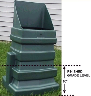 Plastic Secondary Rectangular Service Pedestal