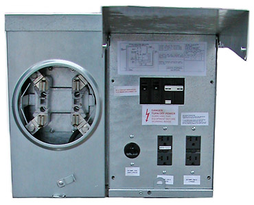 Open Metered Temporary Electrical Service Cabinet with Transformer Mounting