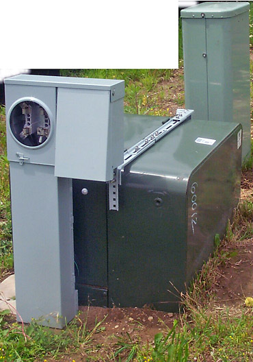 Metered Temporary Electrical Service Cabinet with Transformer Mounting